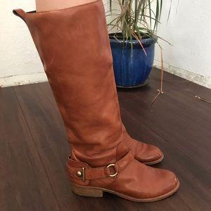 COACH Brynn Riding Boot Size 8.5  tall brown